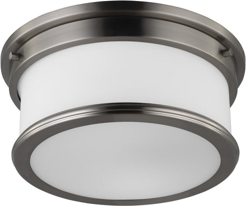 Feiss Payne 2 Light Flush Mount Brushed Steel Fm399Bs