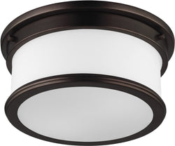 Feiss Payne 2 Light Flush Mount Dark Plated Bronze Fm399Dpz