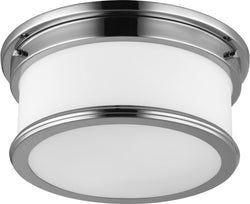 Feiss Payne 2 Light Flush Mount Polished Nickel Fm399Pn