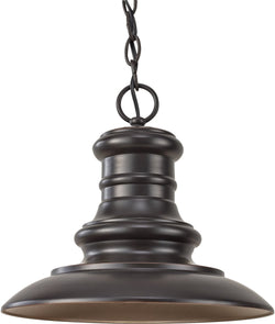 "12""w Redding Station 1-Light Outdoor Lantern Restoration Bronze"