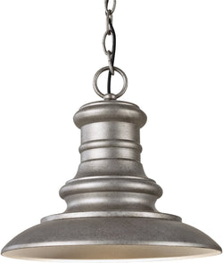 "12""w Redding Station 1-Light Outdoor Lantern Tarnished"