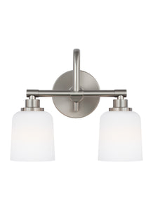 Feiss Reiser 2-Light Bath Vanity Satin Nickel