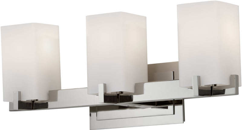 "5""w Riva 3-Light Vanity Strip Polished Nickel"