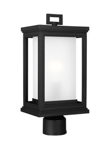 Roscoe 1-Light Outdoor Post Lantern Textured Black