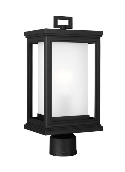 Feiss Roscoe 1-Light Outdoor Post Lantern Textured Black