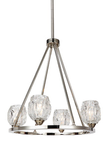 Feiss Rubin 4-Light Chandelier Polished Nickel