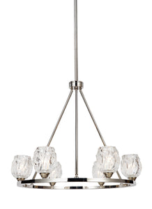 Feiss Rubin 6-Light Chandelier Polished Nickel