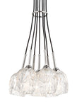 View the Feiss Rubin 7-Light Cluster Chandelier Polished Nickel
