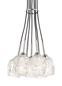 Feiss Rubin 7-Light Cluster Chandelier Polished Nickel
