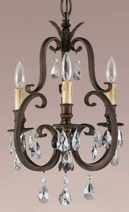 Feiss Salon Ma Mason 3-Light Mini Duo-Mount Chandelier Tortoise F22263ATS