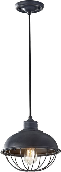 Feiss Urban Renewal 1-Light Mini Pendant Antique Forged Iron P1242AF