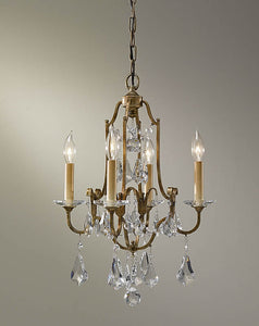 "16""w Valentina 4-Light Mini Crystal Chandelier Oxidized Bronze"
