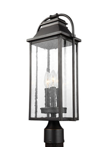 Feiss Wellsworth 3-Light Post Lantern Antique Bronze