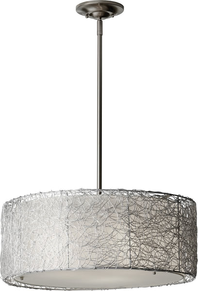 Feiss Wired 3-Light Chandelier Brushed Steel F27023BS