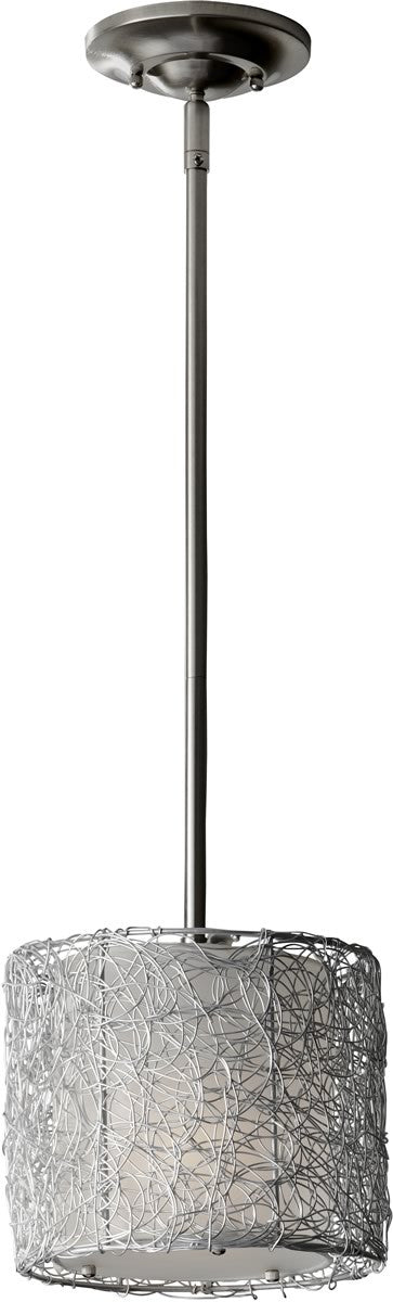 "8""w Wired 1-Light Mini Pendant Brushed Steel"