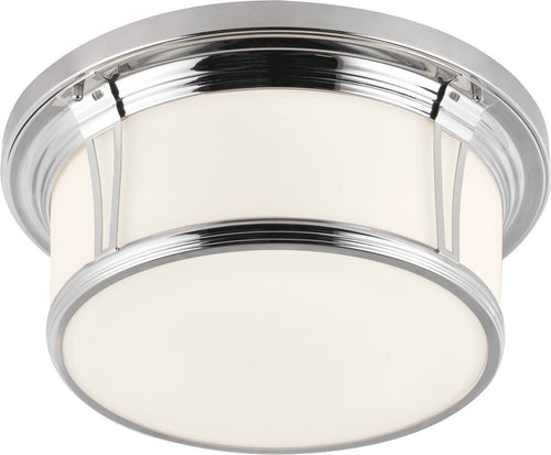 Feiss Woodward 3 Light Flush Mount Polished Nickel Fm389Pn