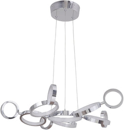 0-021957>Mira 11-Light LED Chandelier Chrome