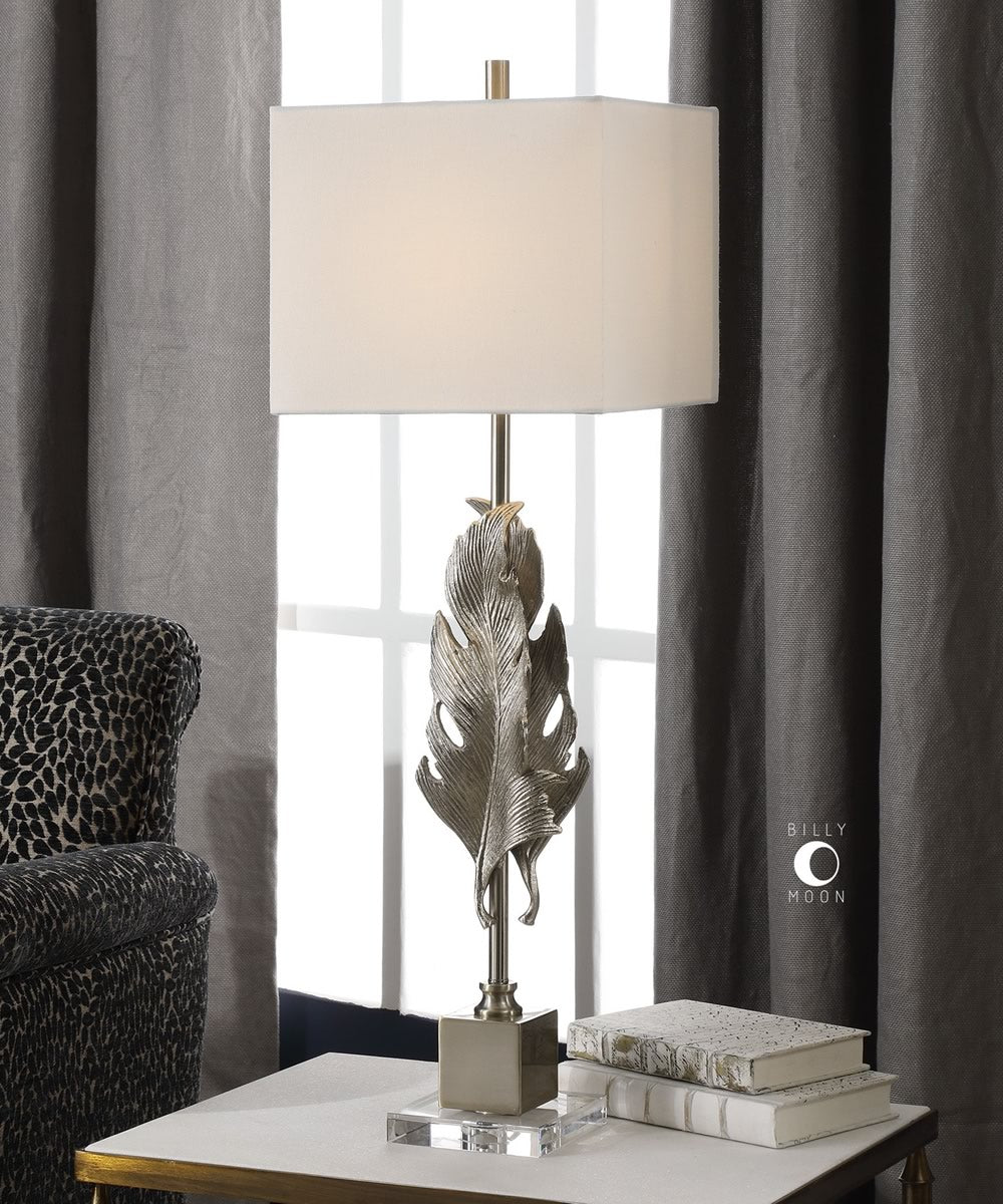 "36""H Luma Metallic Silver Lamp"