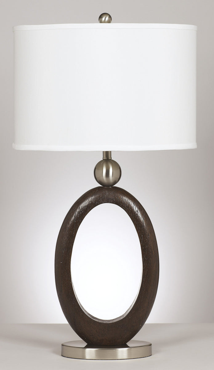 "30""H Set of 2 Meckenzie Table Lamps Brown/Silver"