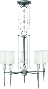 Fredrick Ramond Bentley 5-Light Chandelier Antique Nickel FR44505ANI