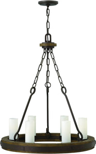 Cabot 6-Light Chandelier Rustic Iron