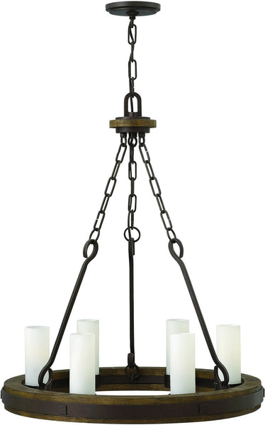 Fredrick Ramond Cabot 6-Light Chandelier Rustic Iron FR48435IRN