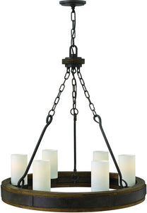Fredrick Ramond Cabot 6-Light Chandelier Rustic Iron FR48436IRN
