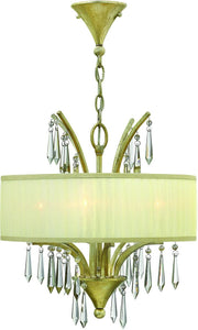 Camilla 4-Light Chandelier Silver Leaf