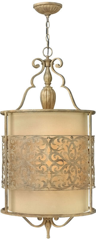 "18""w Carabel 4-Light Pendant Foyer Brushed Champagne"