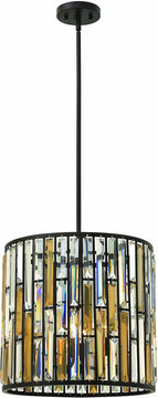 "16""W Gemma 3-Light Chandelier Vintage Bronze"