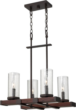 "18""W Jasper 4-Light Chandelier Rustic Iron"