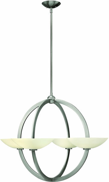 Fredrick Ramond Method 8-Light Chandelier Brushed Nickel FR40756BNI