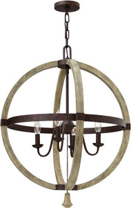Middlefield 4-Light Chandelier Iron Rust