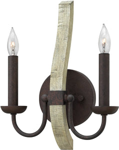 "10""w Middlefield 2-Light Wall Sconce Iron Rust"