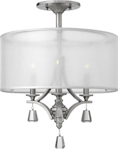 Fredrick Ramond Mime 3-Light Chandelier Brushed Nickel FR45601BNI