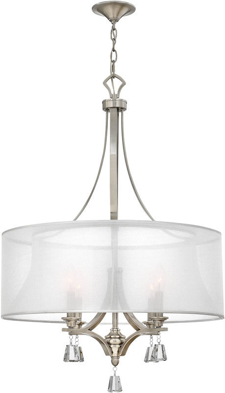 "25""w Mime 4-Light Chandelier Brushed Nickel"