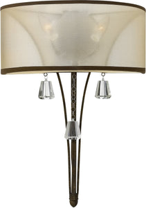 "14""w Mime 2-Light Wall Sconce French Bronze"