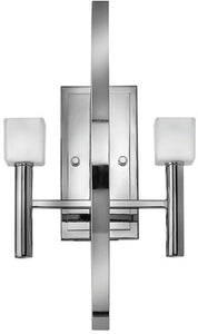 Fredrick Ramond Mondo 2-Light Halogen Wall Sconce Polished Chrome FR49292PCM