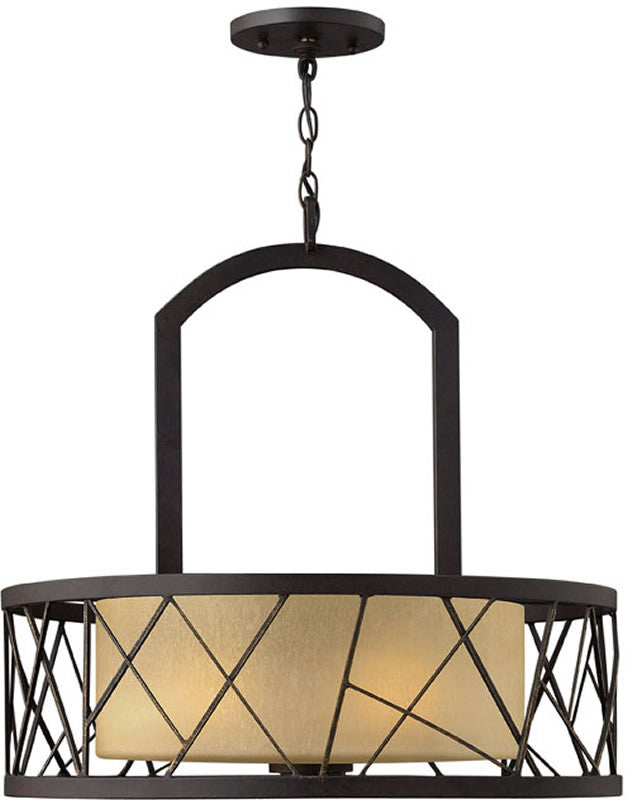 "24""w Nest 3-Light Pendant Chandelier Oil Rubbed Bronze"