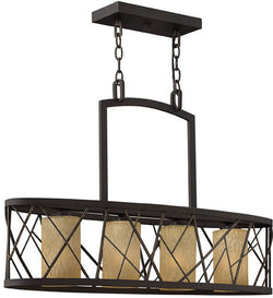 "32""w Nest 4-Light Island Chandelier Oil Rubbed Bronze"