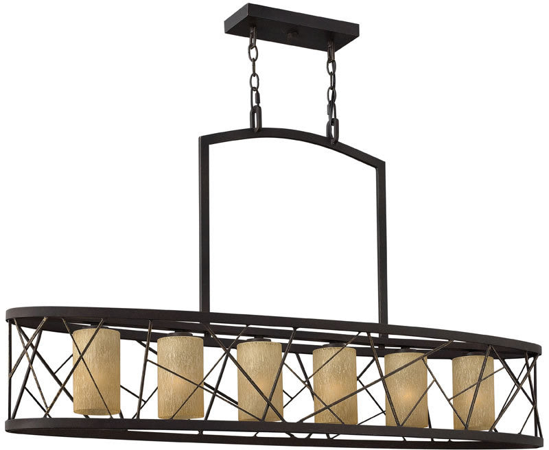 "48""w Nest 6-Light Island Chandelier Oil Rubbed Bronze"