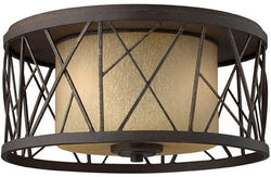 "17""w Nest 2-Light Flushmount Foyer Oil Rubbed Bronze"
