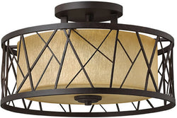 "20""w Nest 3-Light Semi Flush Foyer Oil Rubbed Bronze"