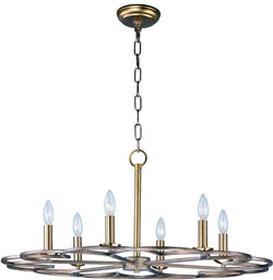 Maxim Helix 6-Light Chandelier 24739BZF