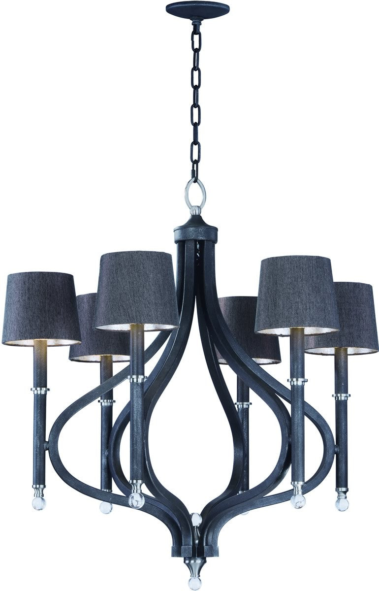 Maxim hendrick 6 light pendant with shades 22335cl lampsusa hendrick 6 light pendant with shades arubaitofo Images