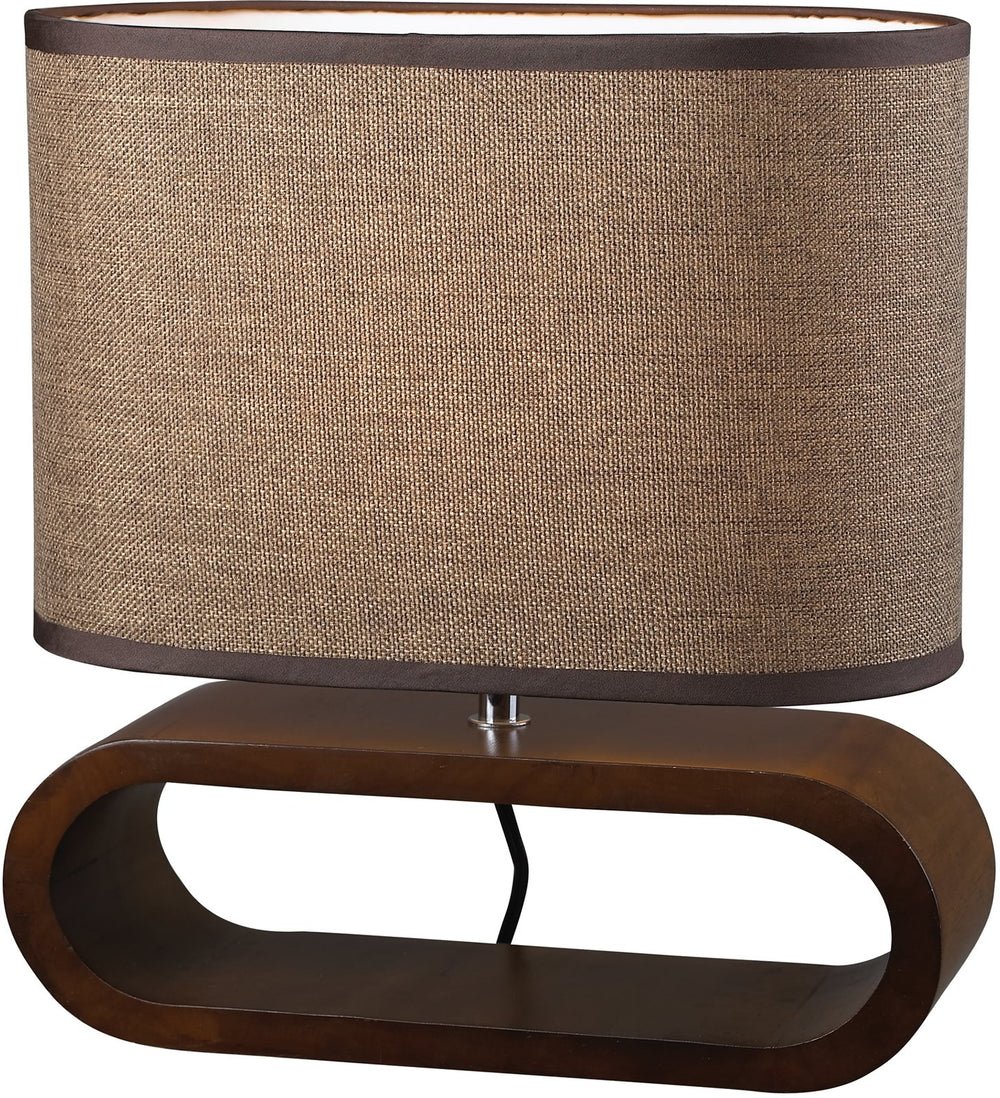 1-Light Accent Lamp Bennford Natural Stain