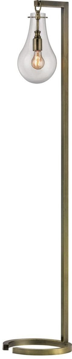 Foucault 1-Light Floor Lamp Antique Brass