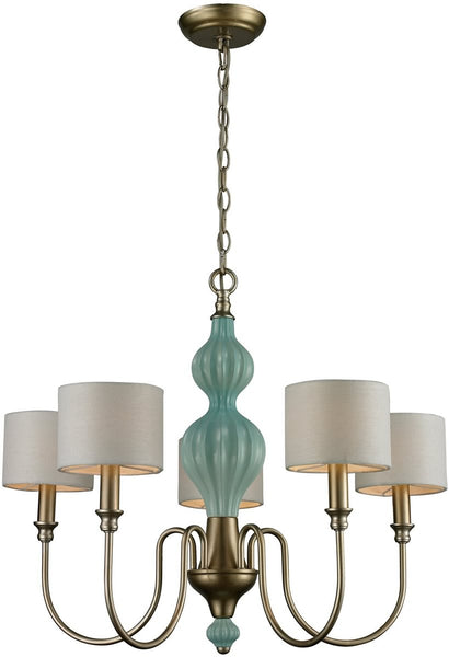 Elk Lighting Lilliana 5-Light Chandelier Aged Silver 313645