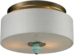 "14""w Lilliana 2-Light Semi Flush Aged Silver"