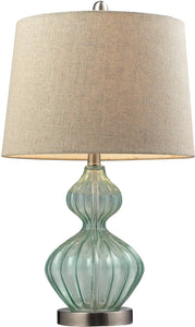 1-Light 3-Way Table Lamp Light Green
